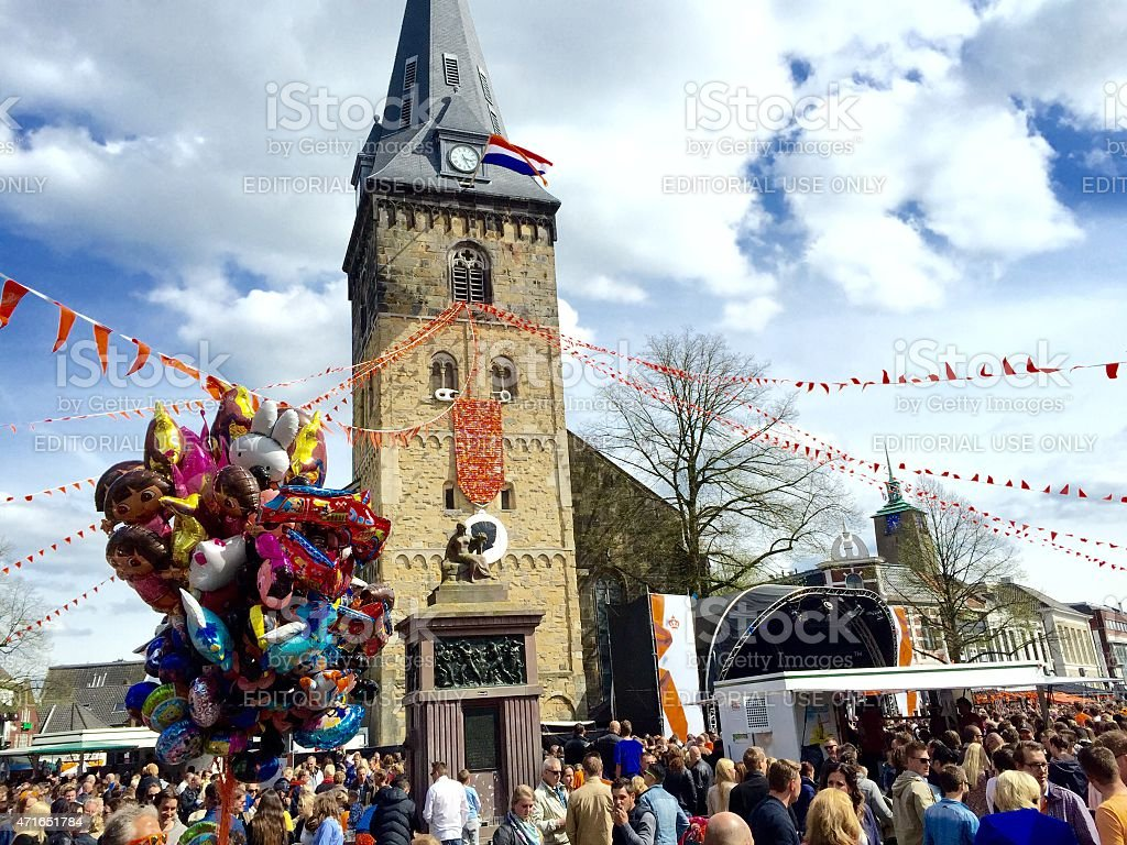 Kingsday 2015 in the city of Enschede The Netherlands stock photo