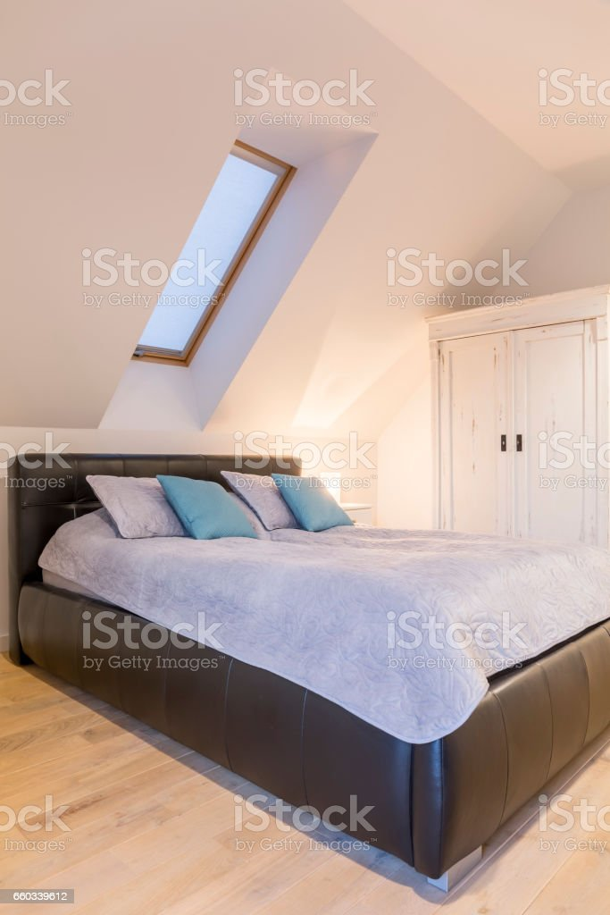 King-size bed stock photo