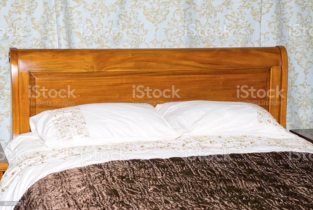 Kingsize Bed stock photo