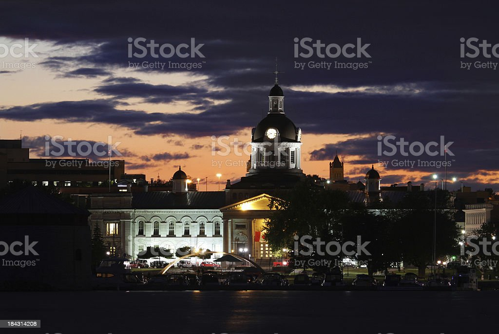 Kingston City Hall at Night royalty-free stock photo
