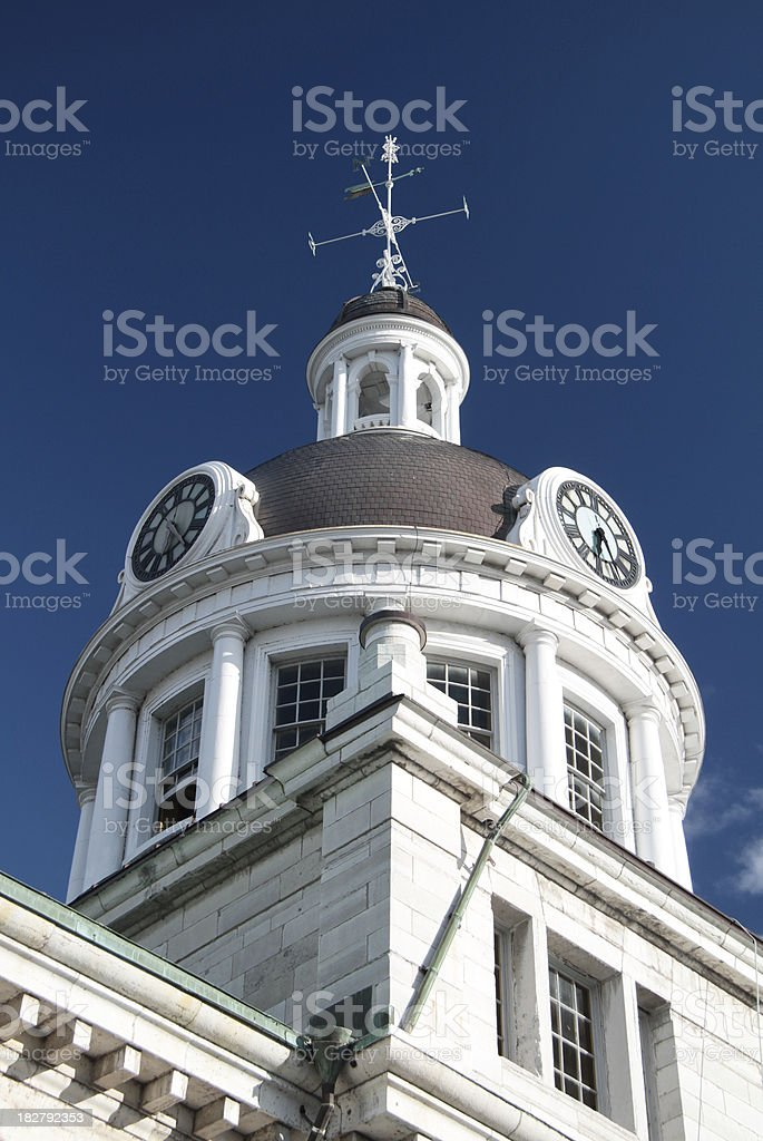 KIngston City Hall Clock Dome from the Back royalty-free stock photo
