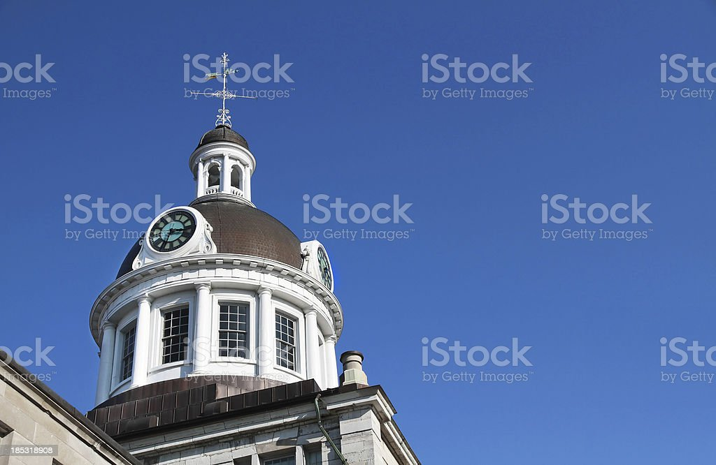 Kingston City Hall Clock Dome with Copyspace royalty-free stock photo