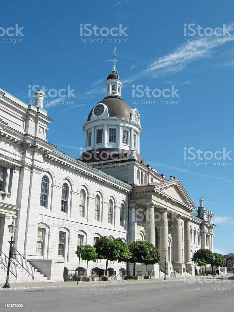 Kingston City Hall from Ontario Street royalty-free stock photo