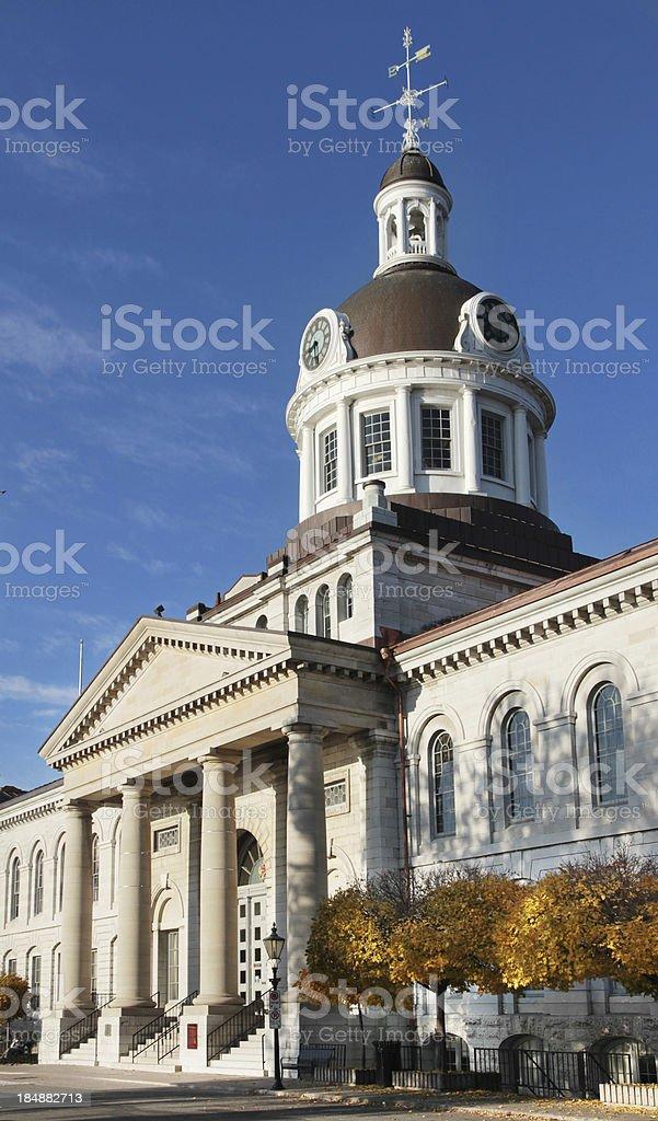 Kingston City Hall in Autumn royalty-free stock photo