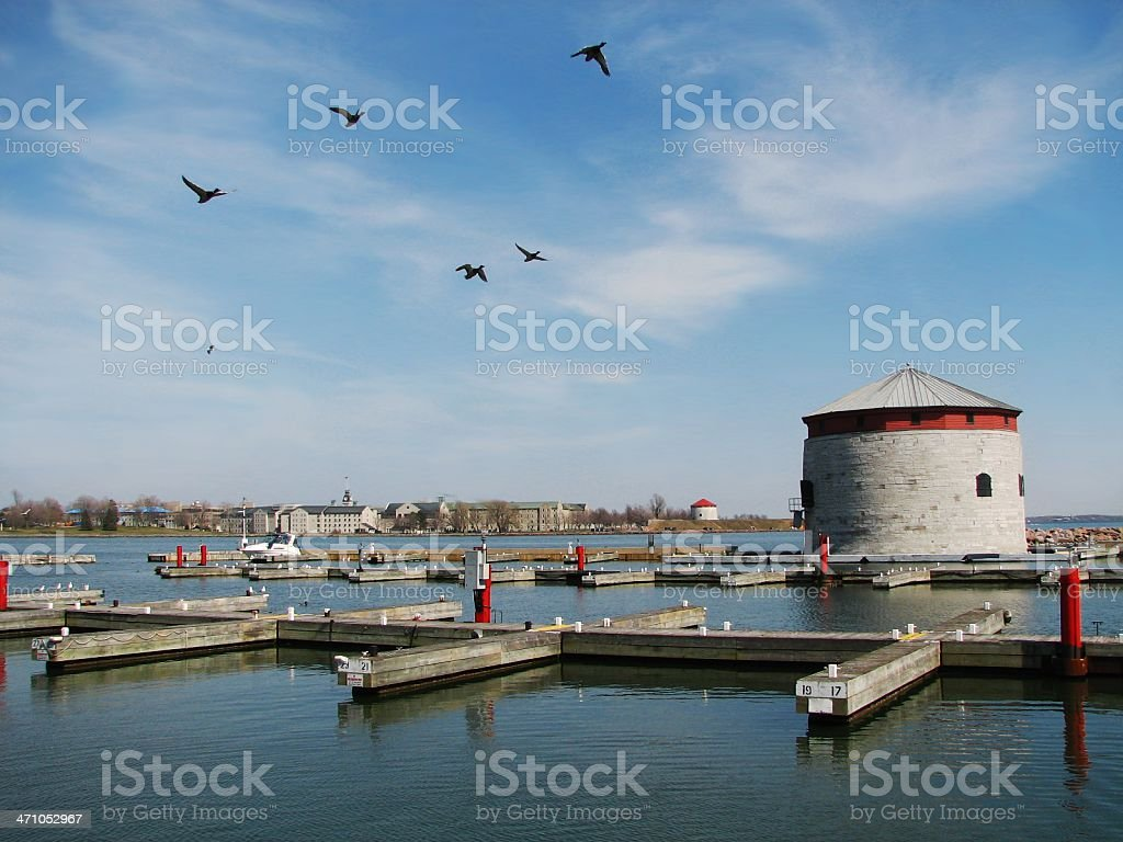 Kingston Harbour and Tower royalty-free stock photo