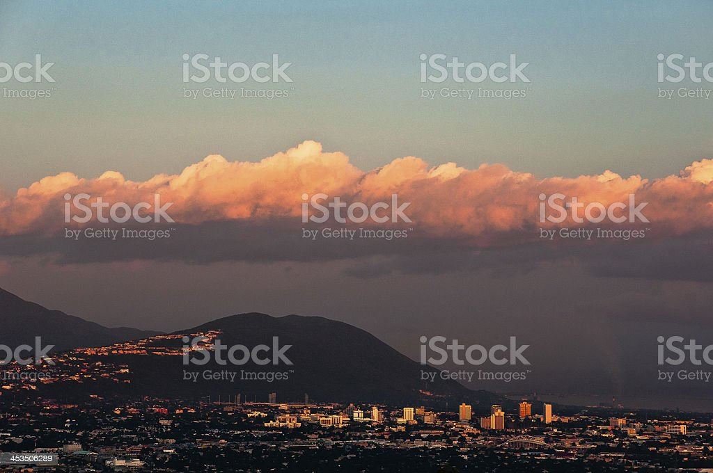 Kingston Jamaica at Sunset stock photo