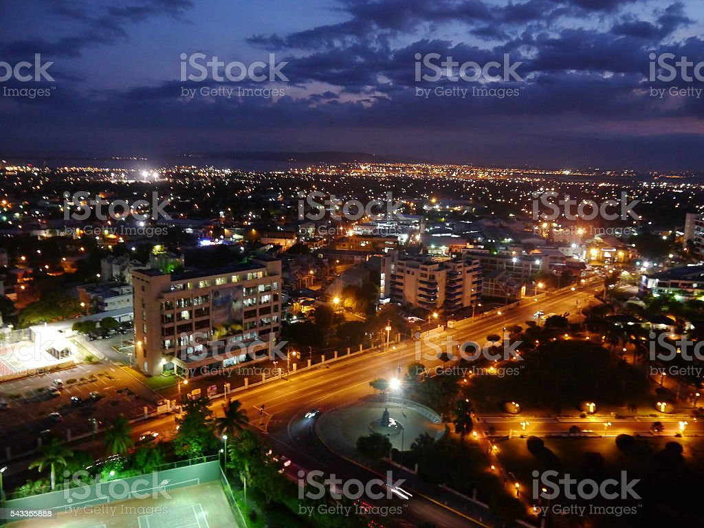 Kingston Night Lights stock photo