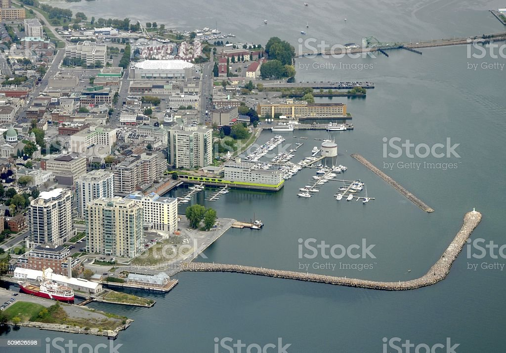 Kingston, ON aerial stock photo