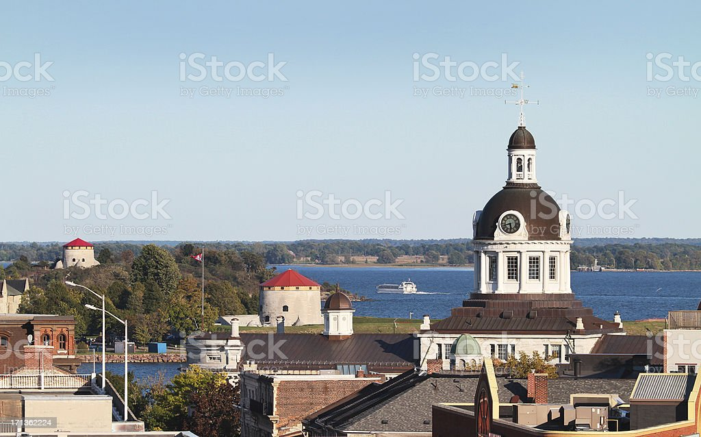 Kingston Skyline from above stock photo