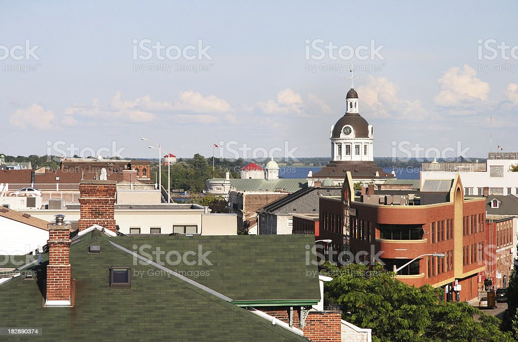 Kingston Skyline from above royalty-free stock photo