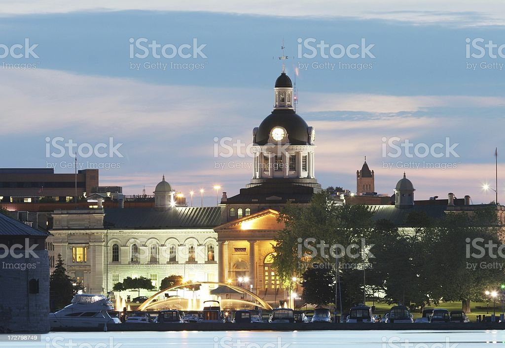 Kingston Waterfront at Night royalty-free stock photo