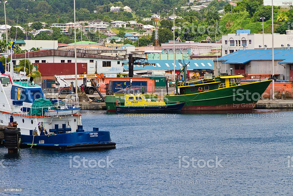 Kingstown Harbor, St. Vincent and the Grenadines royalty-free stock photo