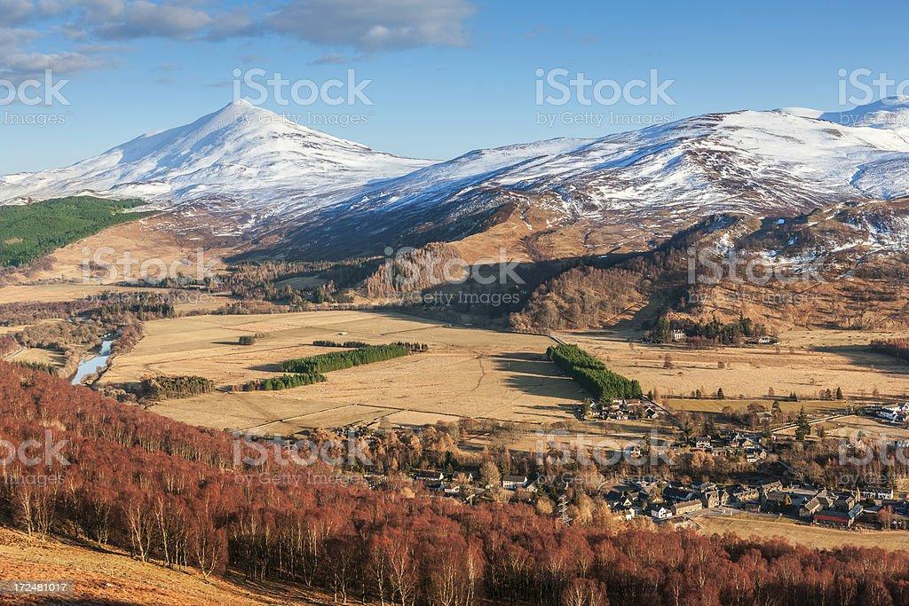 Kinloch Rannoch, Scotland stock photo