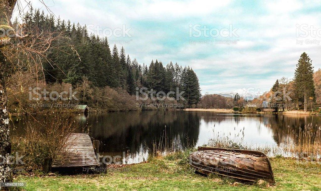 Kinlochard, Trossachs, scotland stock photo