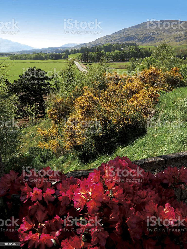Kinlochlaggan from Newtonmore Scottish Highlands. stock photo