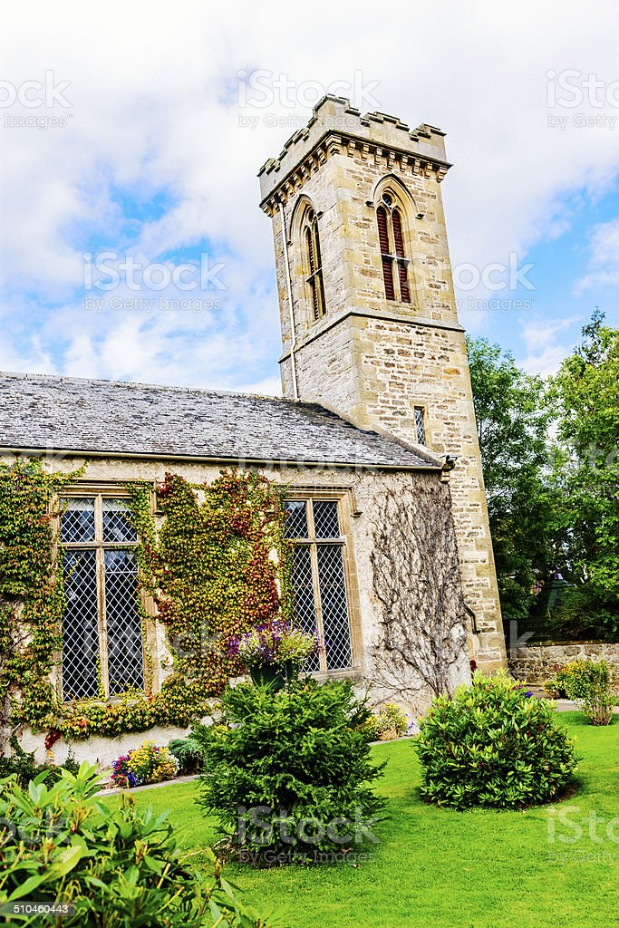 Kinloss Church, Scotland stock photo