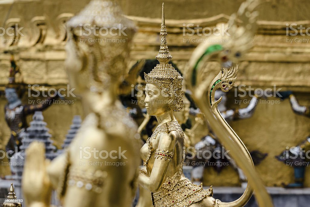 Kinnara at Wat Phra Si Rattana Satsadaram stock photo