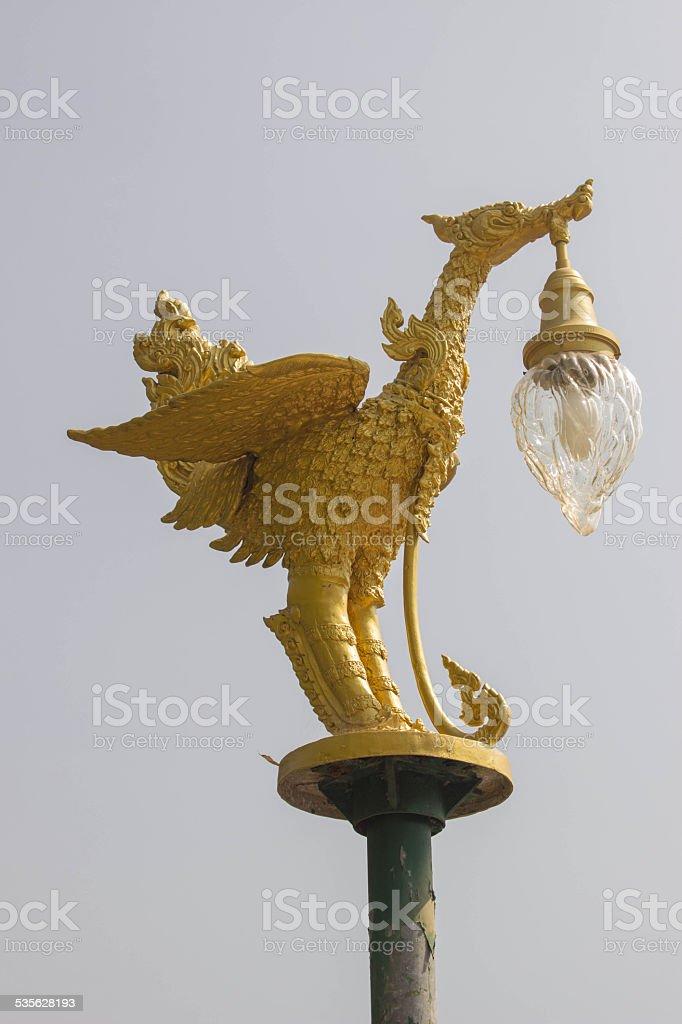 kinnaree and lamp stock photo
