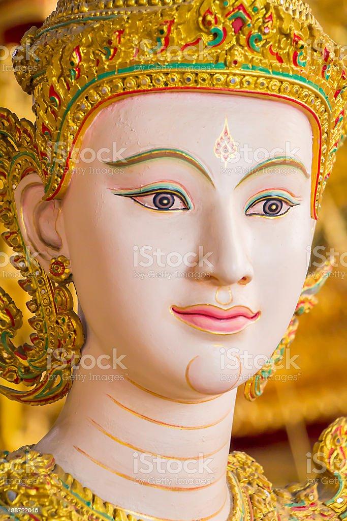 Kinnaree angel sculpture in Bangkok national museum stock photo