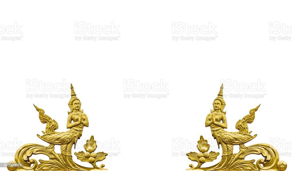 Kinnaree pattern thai style stock photo