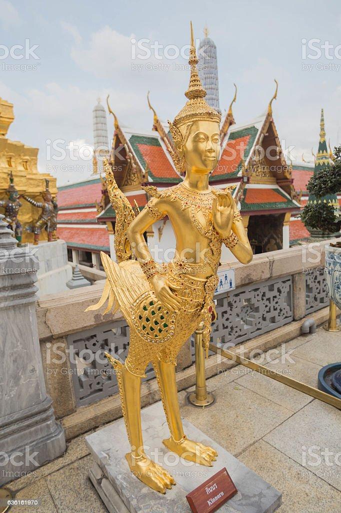 Kinnaree sculpture stock photo