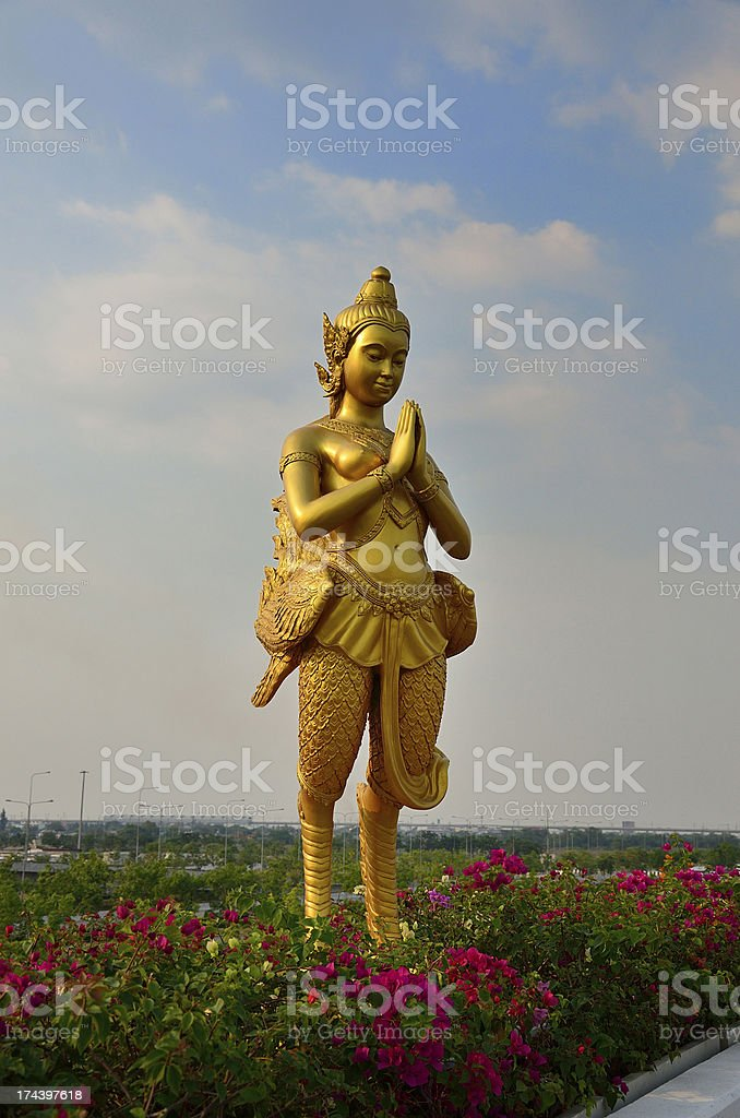 Kinnaree statue as Thais best fineart and architecture royalty-free stock photo