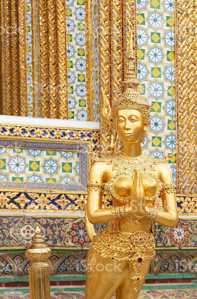 Kinnaree statue stock photo