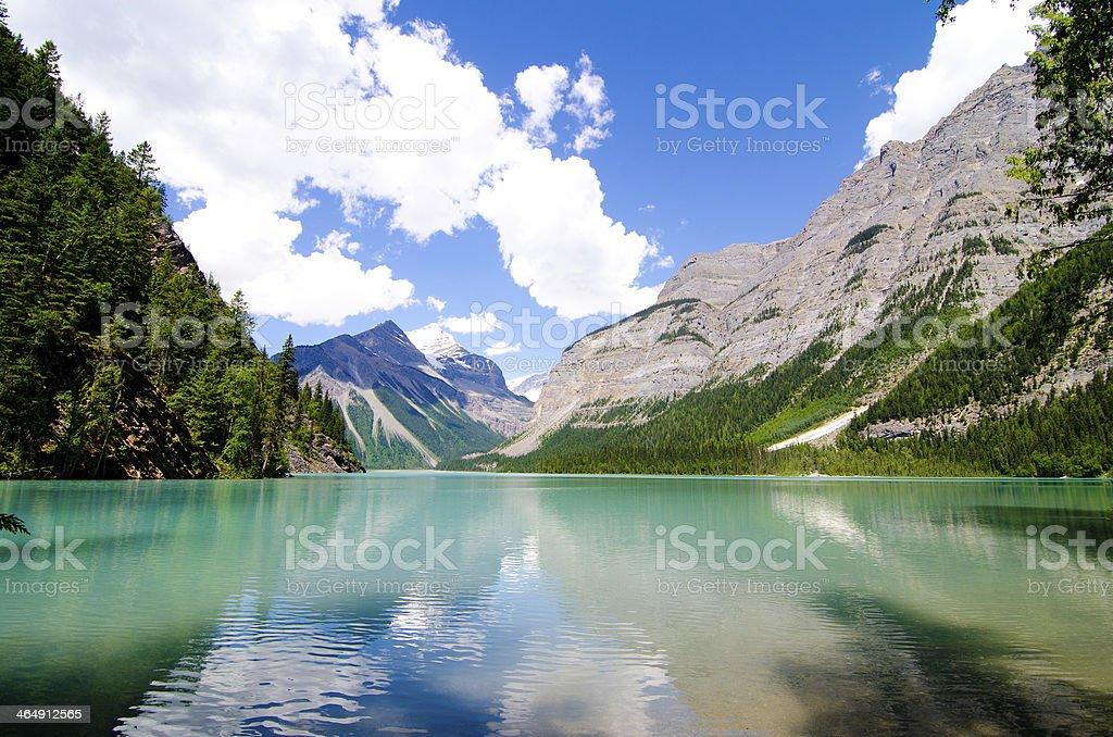 Kinney lake- Mt.Robson stock photo