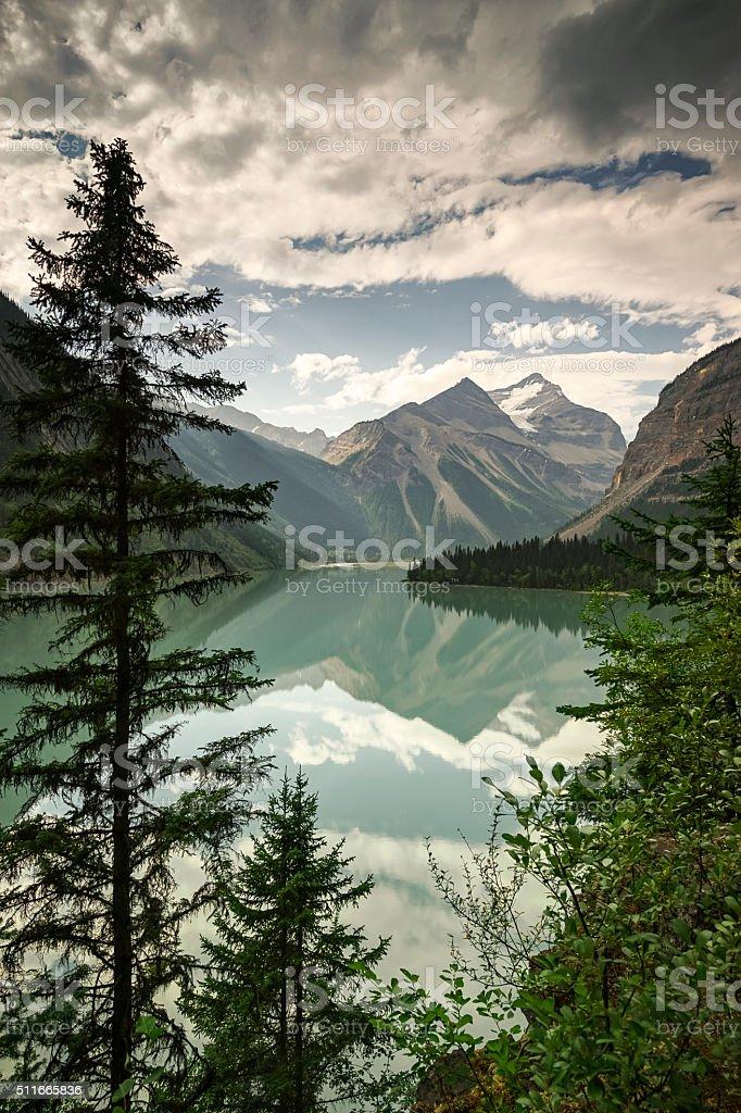 Kinney Lake,  near Valemount, British Columbia in the Mount Robs stock photo