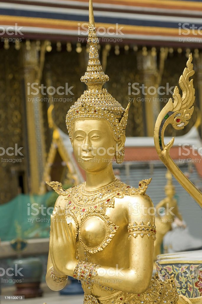Kinora close-up at  Wat Phra Keow Thailand royalty-free stock photo