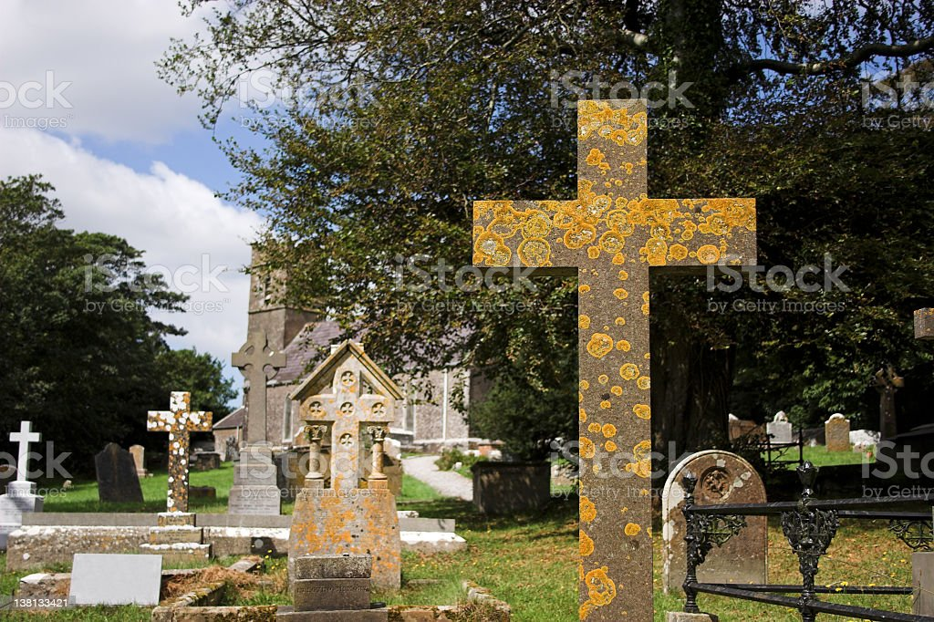 kinsale grave yard cross royalty-free stock photo