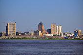 Kinshasa central business district, Congo, skyline
