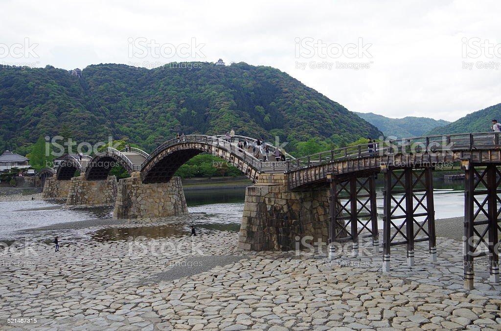 Puente de Kintai, hermoso puente de madera. foto de stock libre de derechos