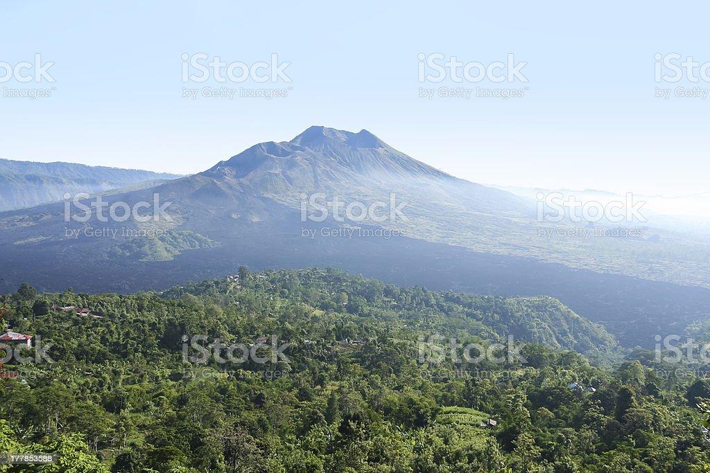Kintamani volcano and lake batur bali royalty-free stock photo