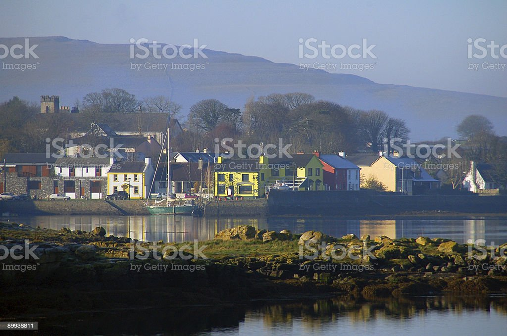 Kinvara, Irish Fishing Village stock photo