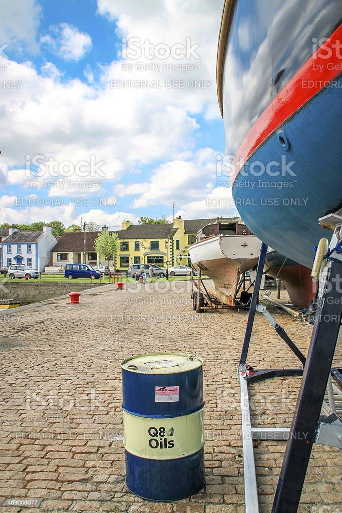 Kinvara's pier, Ireland stock photo