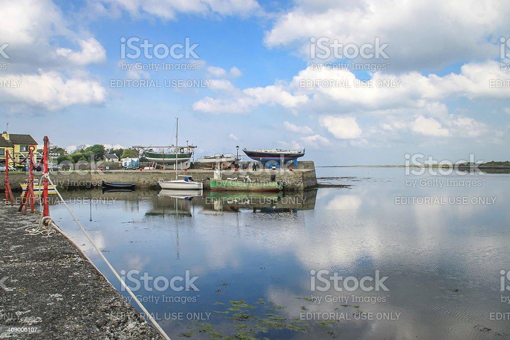 Kinvarra pier, Ireland stock photo