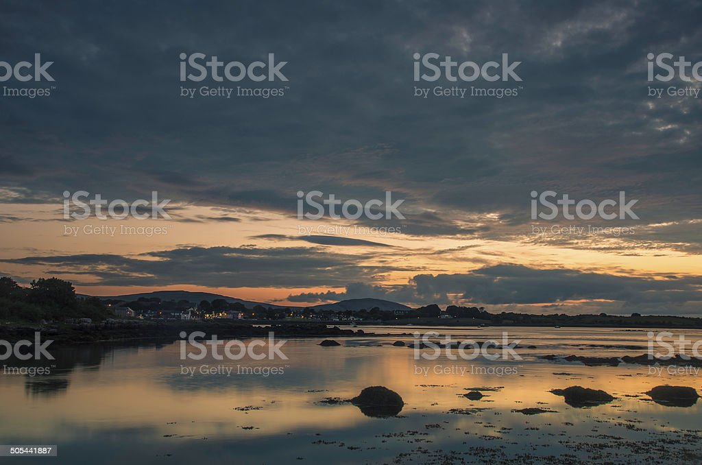 Kinvarra Sunset stock photo