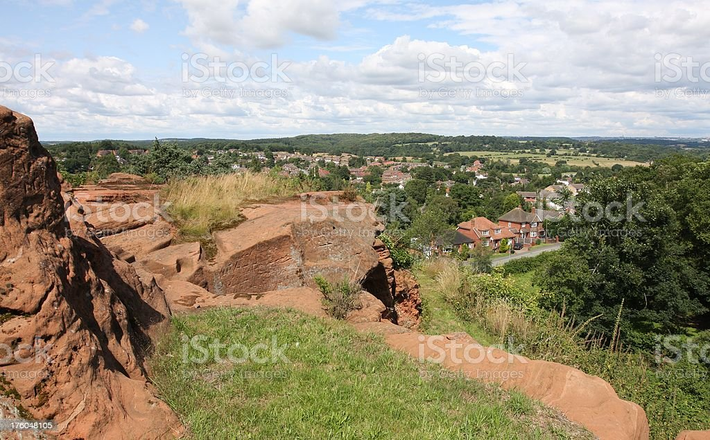kinver edge and village royalty-free stock photo