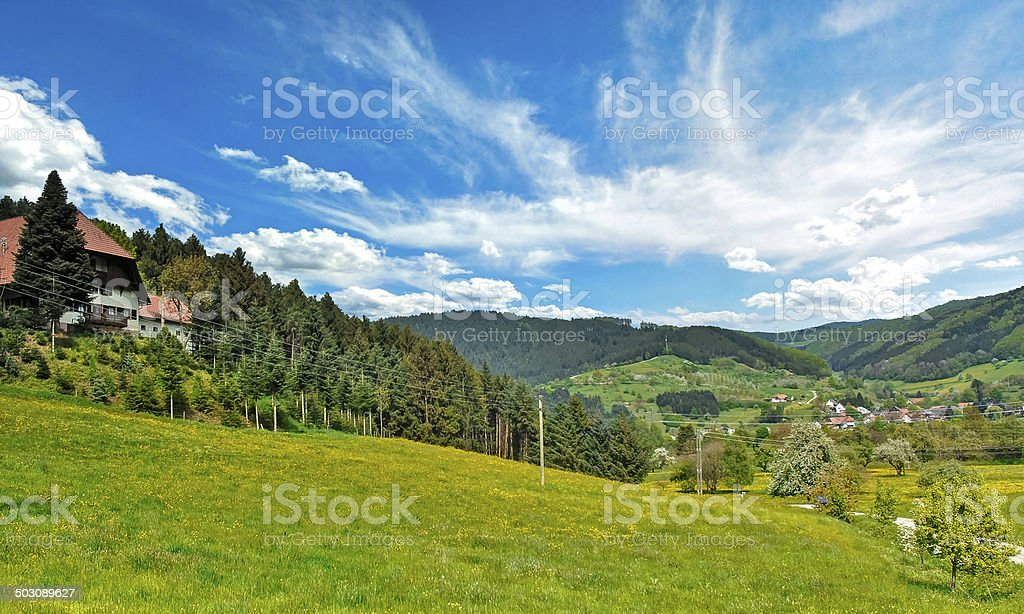 Kinzig valley, Black Forest stock photo