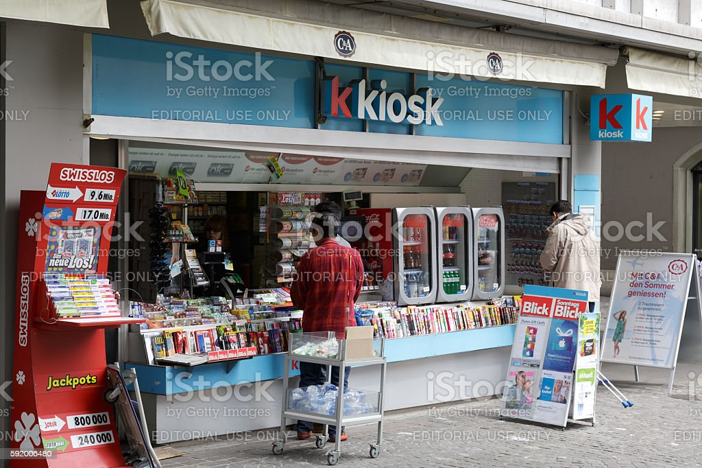 Kiosk in Lucerne stock photo