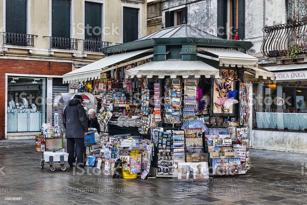 Kiosk in Venice royalty-free stock photo