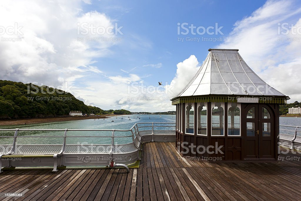 Kiosk on victorian pier at bangor stock photo