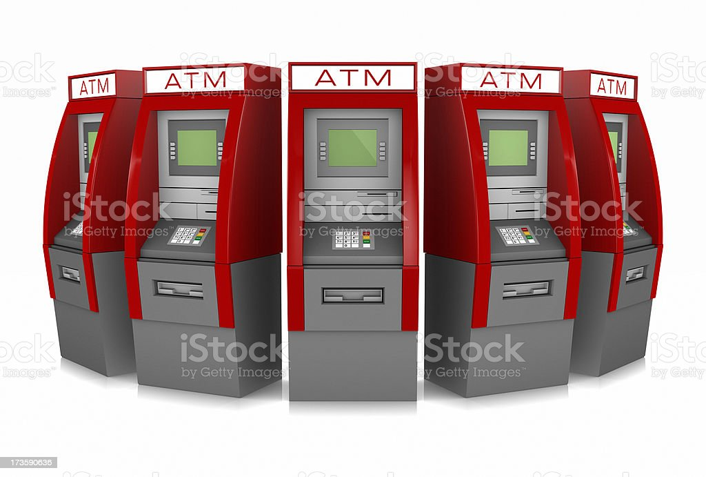 ATM kiosks royalty-free stock photo