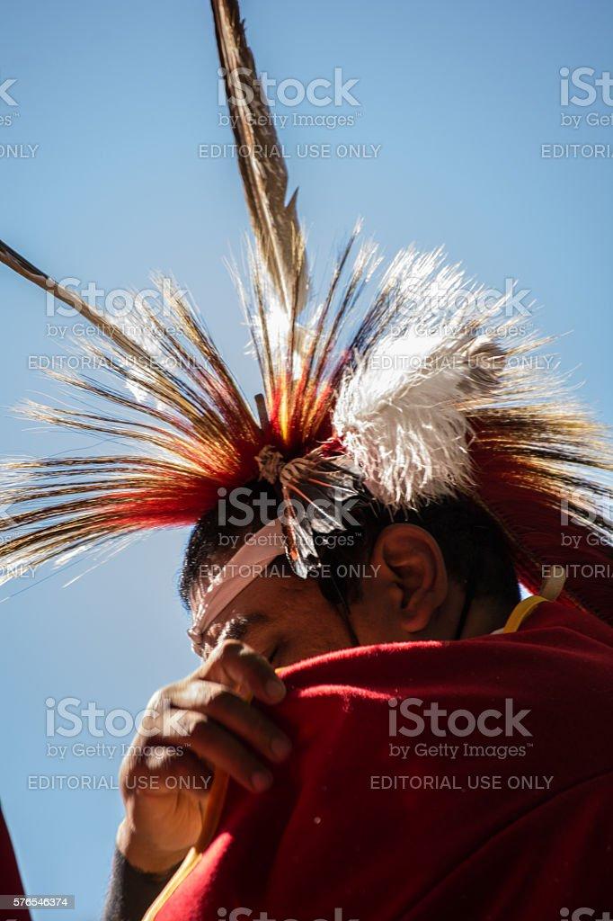 Kiowa Blackleggings Warrior Society Pow-wow. stock photo