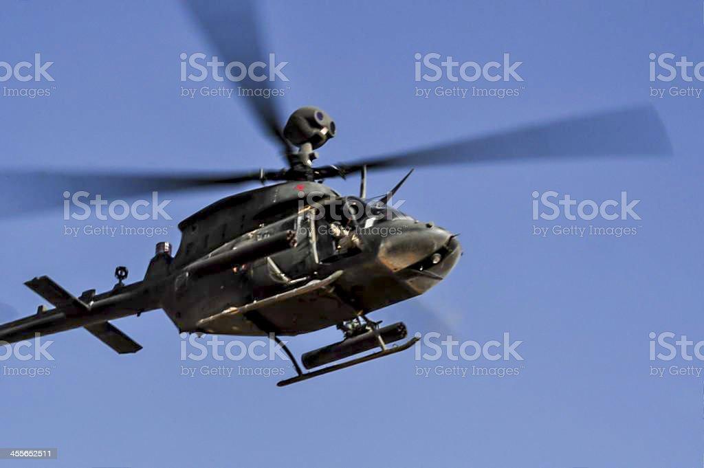 OH-58 Kiowa helicopter stock photo