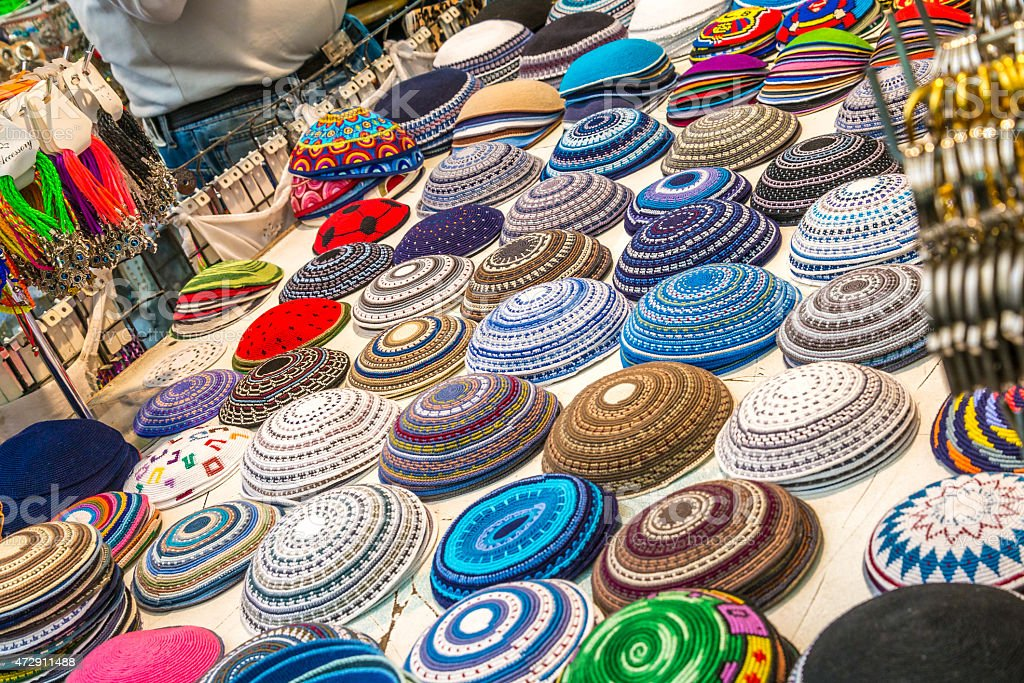 Kippah collection stock photo