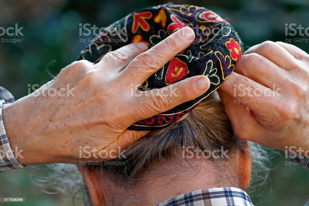 Kippah stock photo