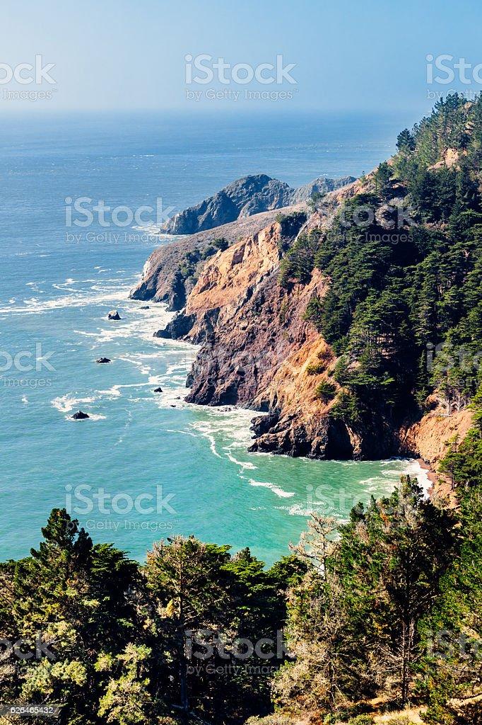 Kirby Cove, Marin Headlands, California, USA stock photo
