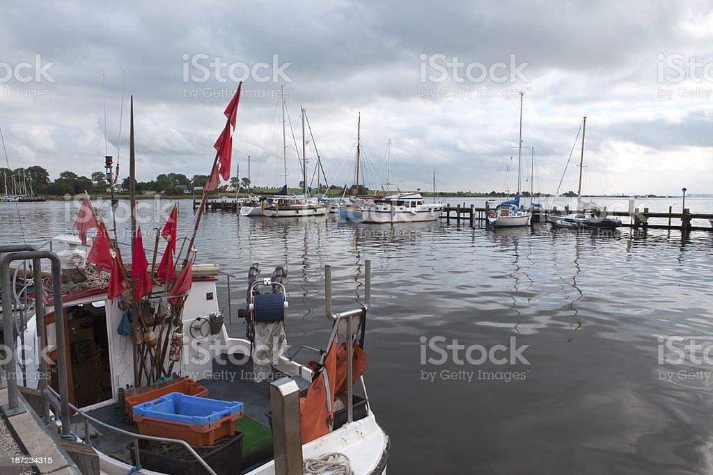Kirchdorf Harbor in Insel Poel - Germany royalty-free stock photo